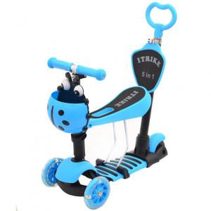 Самокат 5в1 iTrike Maxi JR 3-026-B blue