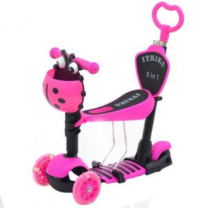 Самокат 5в1 iTrike Maxi JR 3-026-B pink