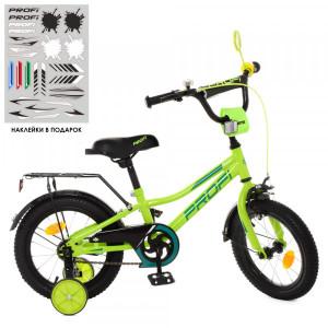 Детский двухколесный велосипед PROF1 Y14225 Prime green