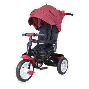 Детский трехколесный велосипед Bertoni Jaguar Air red/black luxe