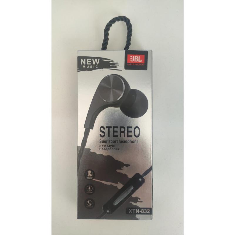 Наушники JBL XTN-832 +mic black