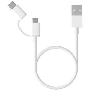 Кабель Micro USB/Type-C Xiaomi USB cable 2 in 1 Micro USB + Type-C 1m white