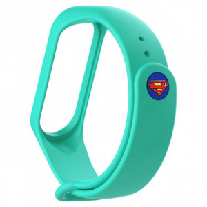 Ремешок Super Heroes Mi Band 5 super man mint