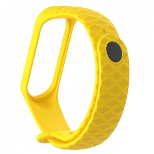 Ремешок Silicone Rhomb Design Xiaomi Mi Band 3 yellow