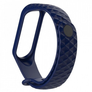 Ремешок Silicone Rhomb Design Xiaomi Mi Band 3 dark blue
