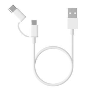 Кабель Xiaomi 2 in 1 USB Cable Micro USB to Type C (30cm) white